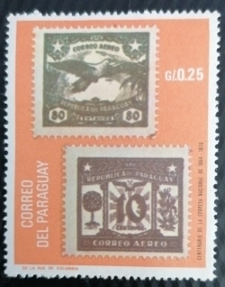 0.25 Guaranies - Centenary of the national epic of 1864-1870