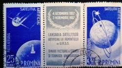 25 Bani + 3.75 Lei - Artificial satellites