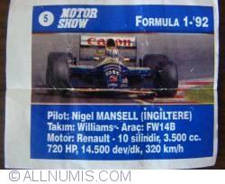 Image #1 of 5 -  Nigel Mansell - Williams