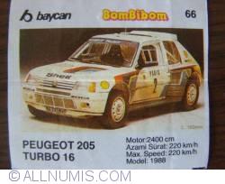 66 - Peugeot 205 Turbo 16