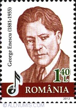 Image #1 of 1,4 Lei 2012 - Banknote Portraits - George Enescu (Commemorative)