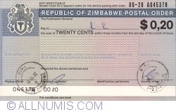 Image #1 of 20 Cents 2002 (issued in Ruwa la 18.05.2002 - paying in Ruwa la 18.05.2002)