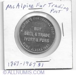 Imaginea #1 a 1 dollar trading token 1967 commemorative