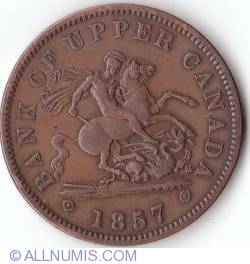 Image #1 of 1 Penny 1857 - Bank Token (Bank of Uper Canada)