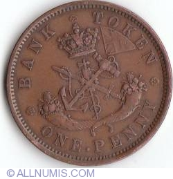 Image #2 of 1 Penny 1857 - Bank Token (Bank of Uper Canada)