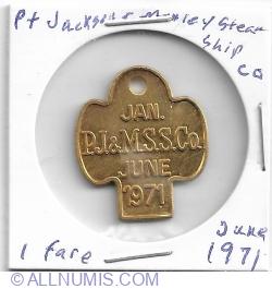 1 fare Jan-June 1971- Port Jackson & Manley Steamship Co.