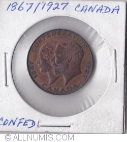 Imaginea #1 a Canada Confederation 50th anniversary Medal 1867-1927