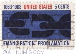 Image #2 of 5 Cents 1963 - Proclamatie de emancipare