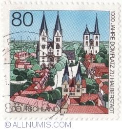Imaginea #2 a 80 Pfennig 1996 - Pia'a Catedralei, Halberstadt