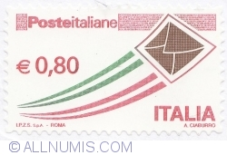 Image #2 of 0,80 Euro 2014 - Italian Post