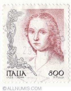 Image #2 of 800 Lire 1998 - Portrait of woman, by Raffaello Sanzio