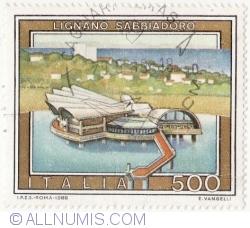 Image #2 of 500 Lire 1988 - Lignano, Sabbiadoro