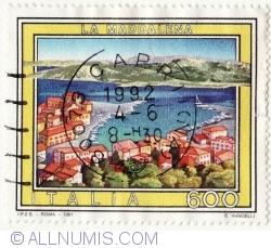 Image #2 of 600 Lire 1991 - La Maddalena