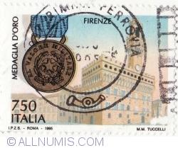 750 Lire 1995 - Firenze, Medaglia d'Oro