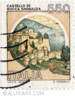 Image #2 of 550 Lire 1984 - Castello di Rocca, Sinibalda