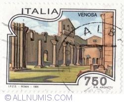 Image #2 of 750 Lire 1995 - Venosa