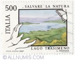 Image #2 of 500 Lire 1987- Trasimento Lake