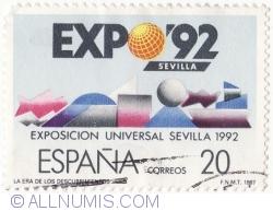 Image #1 of 20 Pesetas 1987 - Expozitia Universala Sevilla 92