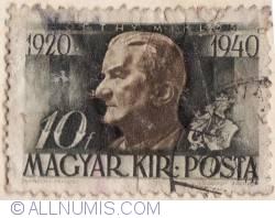 10 filler 1940-Horthy Miklos,1920-1940