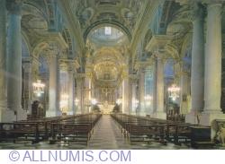 The interior of the Basilica of San Giovanni Battista - Finalmarina