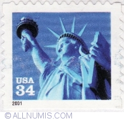 Image #1 of 34 Cents 2001 - Statue Of Liberty