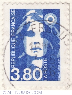 Image #2 of 3,80 Franci 1996-Marianne de Briat