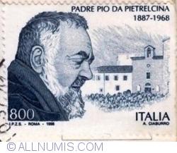 Image #1 of 800 Lire 1998 - Padre Pio da Pitrelcina (1887-1968)