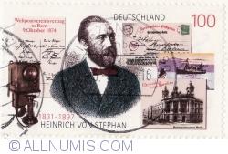 Image #2 of 100 Pfennig 1997 - Heinrich von Stephan (1831-1897)