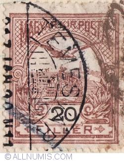 Imaginea #1 a 20 Filler,1901-Coroana Sf.Stefan