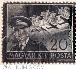 Imaginea #1 a 20 Filler,1942-Istvan Horthy,1904-1942