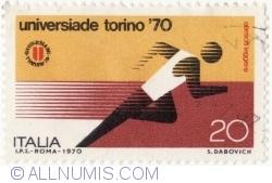 Imaginea #2 a 20 Lire 1970 - Alergător
