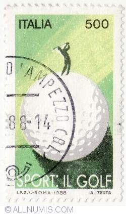 Image #2 of 500 Lire 1988 - Sport. Golf