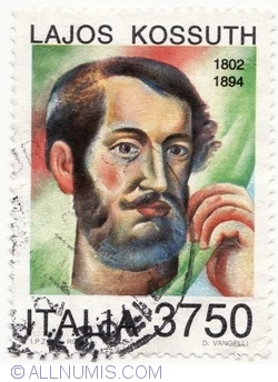 Imaginea #1 a 3750 Lire 1994 - Lajos Kossuth (1802-1894)