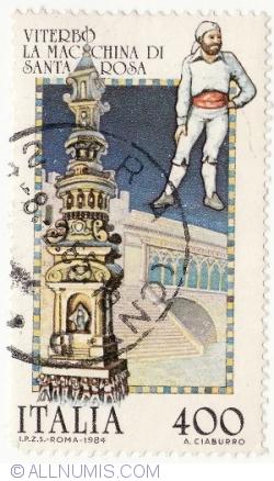Image #1 of 400 Lire 1984 - La Macchina Di Santa Rosa
