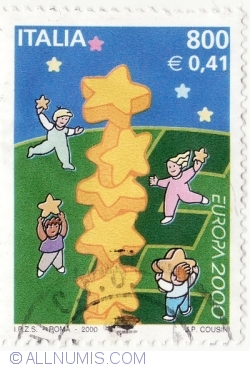 Image #2 of 800 Lire - 0,41 Euro - Europa 2000