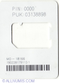 Image #2 of Cartela SIM (without SIM)