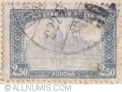 Imaginea #1 a 2,50 Korona 1920 - Palatul Parlamentului