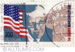 Image #1 of 100 Pfennig 1997 - Marshall Plan - 50 years