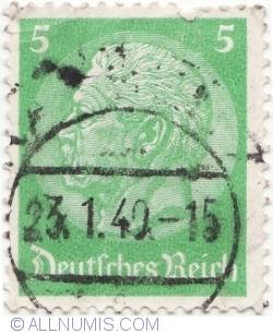 Image #1 of 5 Reichspfennig,1940-Paul von Hindenburg