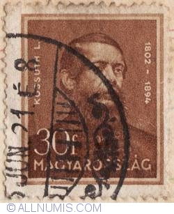 Imaginea #1 a 30 Filler 1932 - Lajos Kossuth (1802-1894)