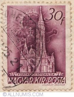 Imaginea #1 a 30 Filler 1939 - Biserica Încoronării din Budapesta