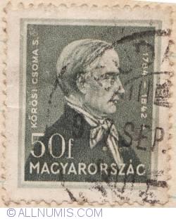 Imaginea #1 a 50 Filler,1932 - Sandor Korosi Csoma (1784-1842)