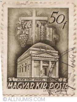 Imaginea #1 a 50 Filler 1939 - Biserica Evanghelică din Budapesta