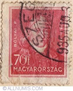 70 Filler,1932 - Farkas Bolyai (1775-1856),matematician