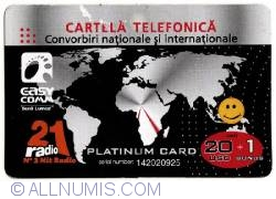 Image #1 of Calling Card - National and international calls - Platinum Card (20 +1 USD)