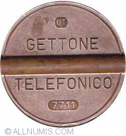 Gettone telefonico 7711 November UT