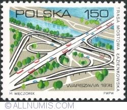 Image #1 of 1,50 Złoty 1974 - Lazienkowska Bridge Road