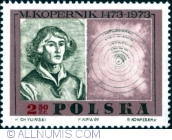 Image #1 of 2,50 Złoty 1969 - Copernicus, painting by Jan Matejko and map of heliocentric system