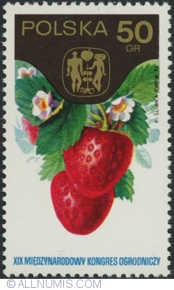 Image #1 of 50 Groszy 1974 - 19th International Horticultural Congress, Warsaw - Strawberries