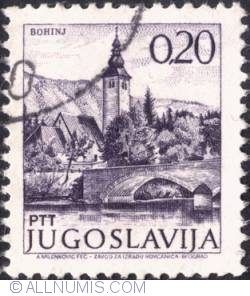 Image #1 of 0,20 Dinara 1973 - Church & bridge, Bohinj